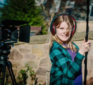 Filmmaking at our 1 week Summer Film School: Girl on sound