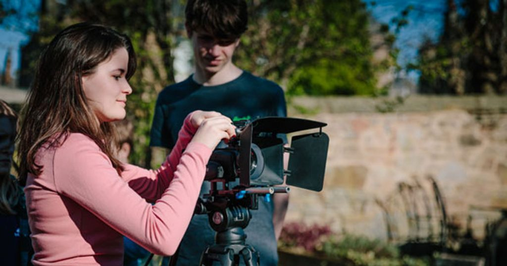 Teenage girl learns Filmmaking at The Film Academy Edinburgh