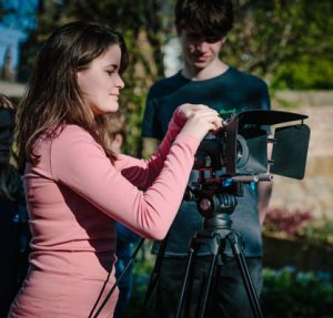 Teenagers learn filmmaking with the camera at The Film Academy Edinburgh