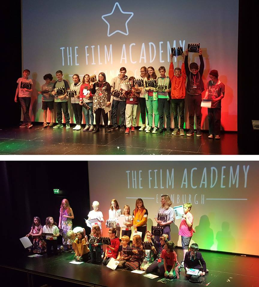 Our August Summer Camp students graduate from The Film Academy Edinburgh!