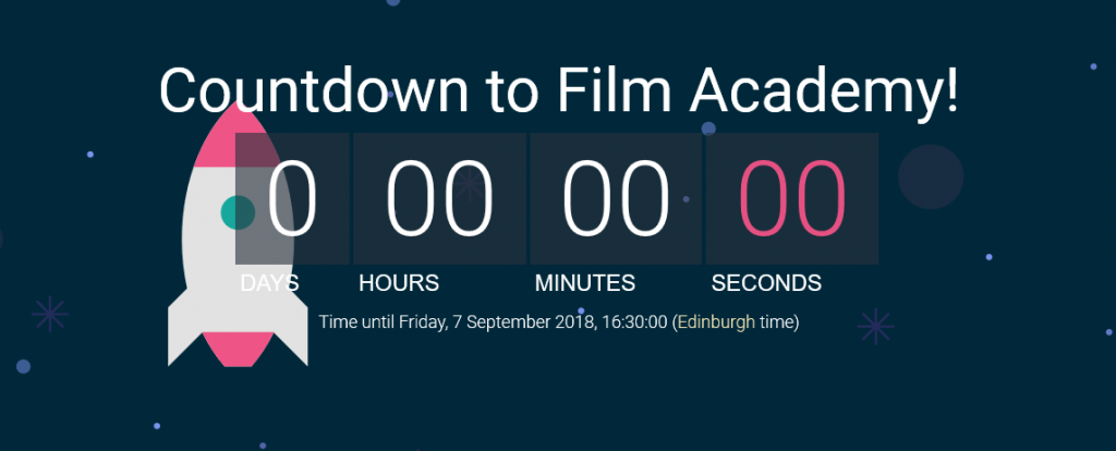 Countdown to our Weekly Film Academy!