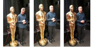 Graham with his giant Oscar statue!